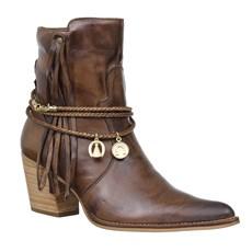Bota Texana Feminina Marrom Bico Fino Cow Way 26629