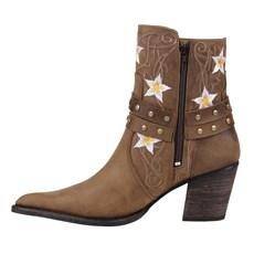 Bota Texana Feminina Marrom com Bordado Cow Way 24484