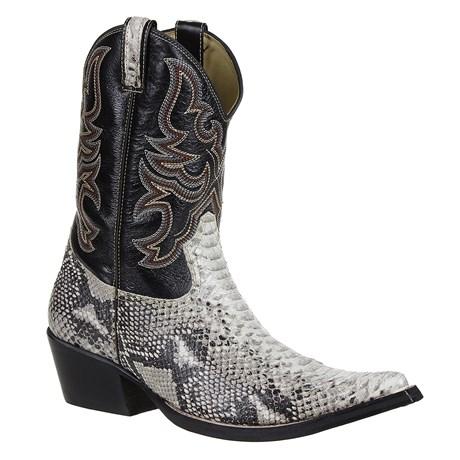 Bota Texana Masculina Anaconda Orig Solado de Couro - West Country