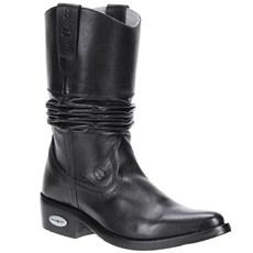 Bota Texana Masculina Bico Fino Preta Cow Way 21499