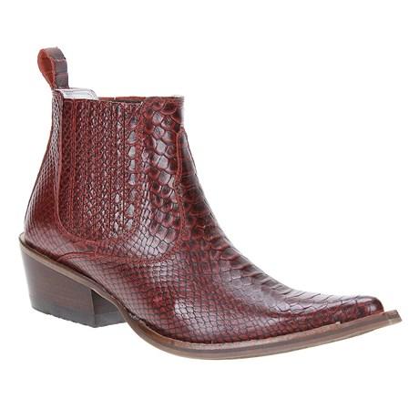 Bota Texana Masculina Vermelha Anaconda Cow Way Bico Fino 22954
