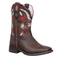 Bota Western Feminina Marrom Bico Quadrado Cow Way 26630