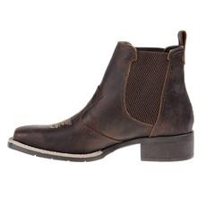 Botina de Couro Feminina Bico Quadrado Urbana Boots 25867