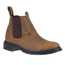 Botina de Couro Marrom Masculina Urbana Boots 24155