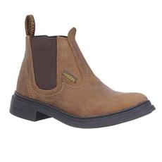 Botina de Couro Marrom Masculina Urbana Boots 28674