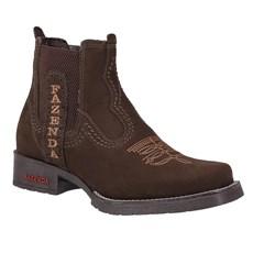 Botina Fazenda Boots Masculina Marrom 24019