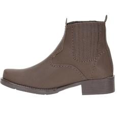 2321f0d859 Botina Feminina Marrom Bico Redondo Urbana Boots 23435 - Rodeo West