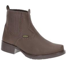 Botina Feminina Bico Redondo Roper Marrom - Urbana Boots 19270