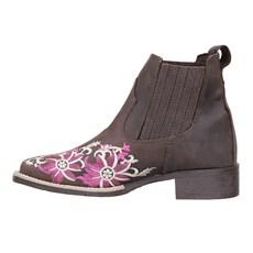 Botina Feminina Bordada Urbana Boots Marrom 26724