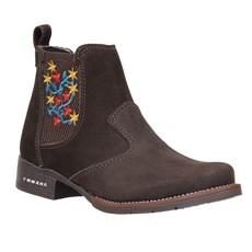 Botina Feminina Couro Marrom Urbana Boots 26723