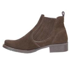 Botina Feminina Marrom Bico Redondo Urbana Boots 23646