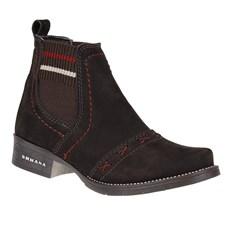 Botina Feminina Marrom Detalhada Urbana Boots 24829