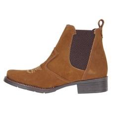 Botina Feminina Urbana Boots Couro Marrom 23093