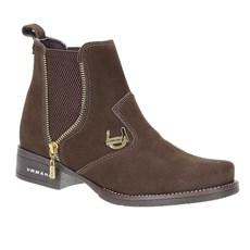 Botina Feminina Urbana Boots Couro Marrom 23644