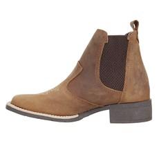 Botina Marrom Feminina Bico Quadrado Urbana Boots 27786