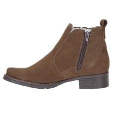 Botina Marrom Feminina Bico Redondo Urbana Boots 23436