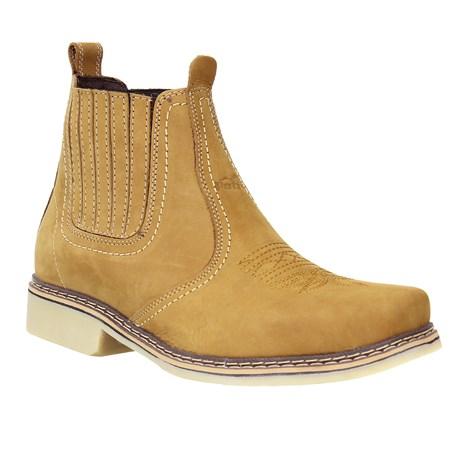 Botina Masculina Amarela Bico Quadrado Potro 28188
