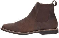 Botina Masculina Couro Cano Curto Urbana Boots Marrom 19703