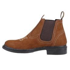 ab59516192f ... Botina Masculina de Couro Marrom Urbana Boots 24154