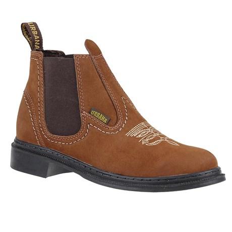 Botina Masculina de Couro Marrom Urbana Boots 24154