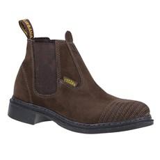 Botina Masculina Marrom Bico Redondo Urbana Boots 24156