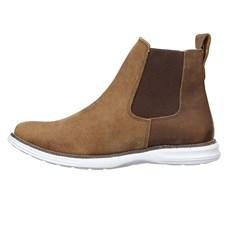 Botina Masculina Marrom Urbana Boots Solado Branco 26725