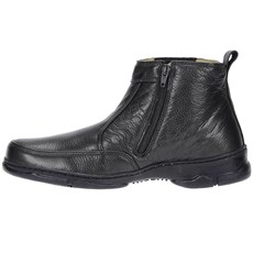 Botina Masculina Preta Bico Redondo e Zíper Lateral - Urbana Boots 19278
