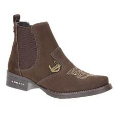 Botina Urbana Boots Feminina Marrom 23645