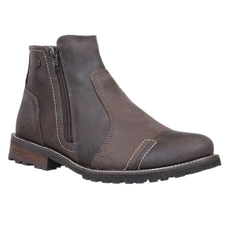 Botina Urbana Boots Masculina Couro Café 26728