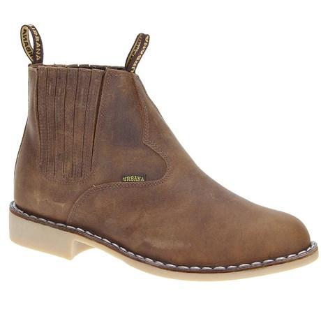 Botina Vira Francesa Masculina Marrom Urbana Boots 19653