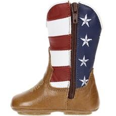 ... Botinha para Bebê Cano Longo com Detalhe Bandeira EUA - Caminhos da Roça  17023 f035e61a2b0