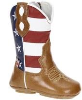 Botinha para Bebê Cano Longo com Detalhe Bandeira EUA - Caminhos da Roça 17023
