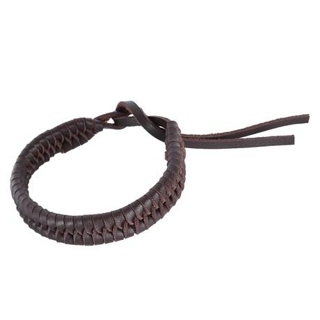 Bracelete Masculino Marrom Trançado Ostral 25082