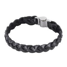 Bracelete Masculino Trançado Preto Ostral 25086