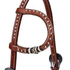 Cabeçada 1 Orelha de Couro com Rebites e Charroas Top Equine 26665