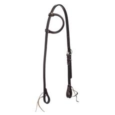 Cabeçada 1 Orelha de Couro Marrom para Cavalo Top Equine 30061