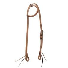Cabeçada 1 Orelha de Couro Natural com Oléo para Cavalo Top Equine 30062