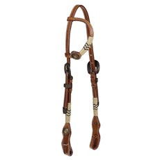 Cabeçada 1 Orelha de Couro para Cavalo Top Equine 24707