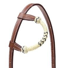 Cabeçada 1 Orelha Importada de Couro com Charroa Invervo Boots Horse 27679