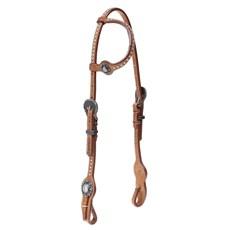 Cabeçada 1 Orelha para Cavalo  Couro com Margaridas e Apliques Top Equine 28038