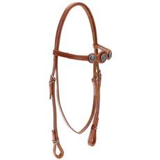 Cabeçada de Cavalo com Testeira Bronc-Steel Couro Havana 21887