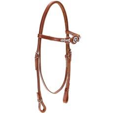 Cabeçada de Cavalo com Testeira Bronc-Steel Couro Havana 21889
