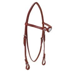 Cabeçada de Cavalo com Testeira Bronc-Steel Couro Havana 23676