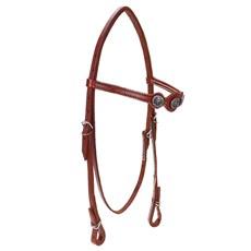 Cabeçada de Cavalo com Testeira Bronc-Steel Couro Havana 23678