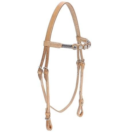 Cabeçada de Cavalo em Couro Natural Bronc-Steel 21898
