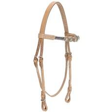 Cabeçada de Cavalo em Couro Natural Bronc-Steel 21900
