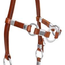 Cabeçada de Couro e Argola para Cavalo Bronc-Steel 23662