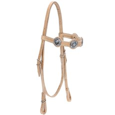 Cabeçada de Couro Natural para Cavalo com Afogador Bronc-Steel 21916