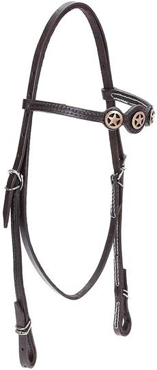 Cabeçada de Couro para Cavalo com Afogador Bronc-Steel Marrom 21890