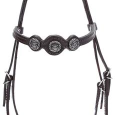 Cabeçada de Couro para Cavalo com Afogador Bronc-Steel Marrom 21891